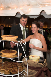 Let Them Eat Pie! :  wedding cake food morgantown Pie Cutting Via The Knot Photo By Quincy Banks pie cutting via The Knot Photo by Quincy Banks